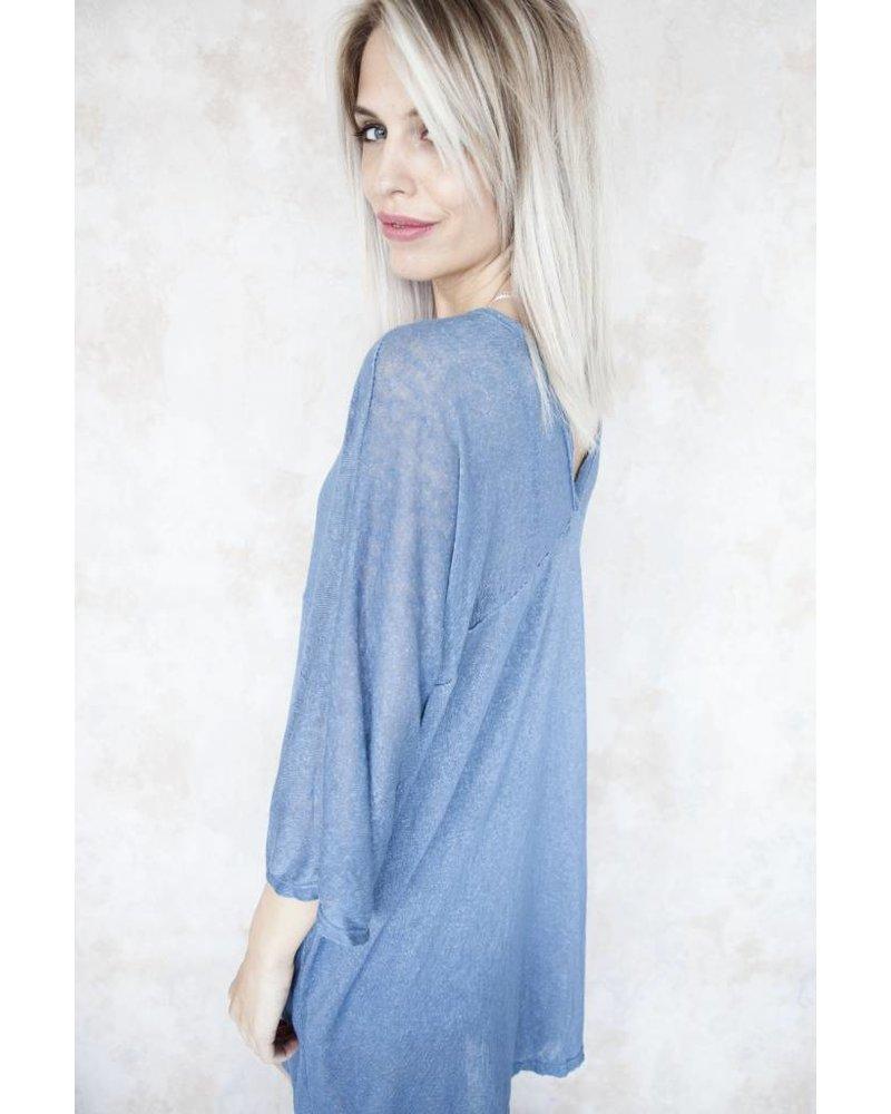 LONG MANON BLUE - TUNIEK