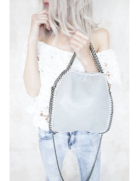 CHAIN BAG SMALL GREY