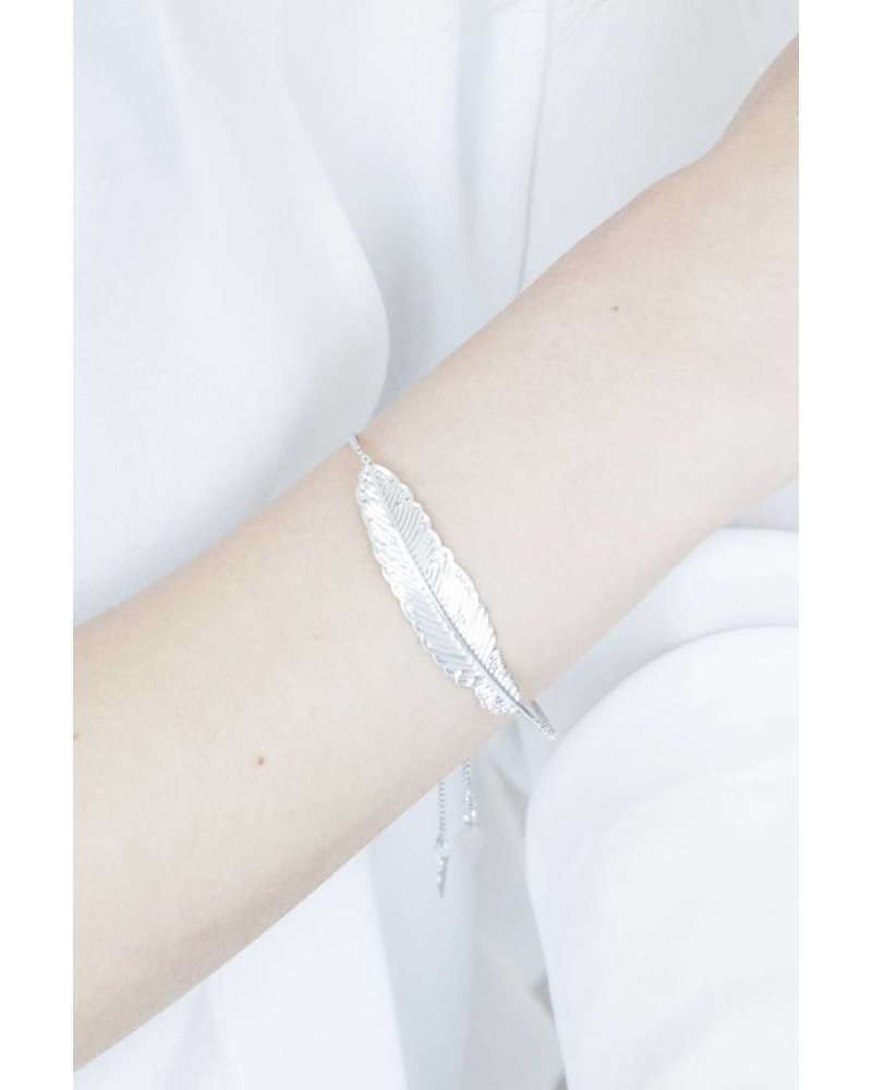 FEATHER SILVER - ARMBAND
