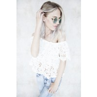JUNA LACE WHITE - TOP