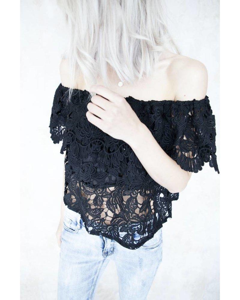 JUNA LACE BLACK - TOP