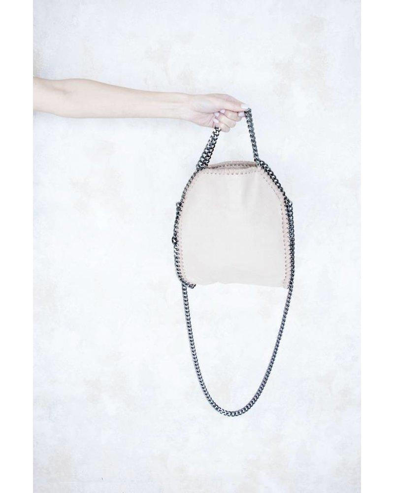 CHAIN BAG SMALL OLD PINK - HANDTAS