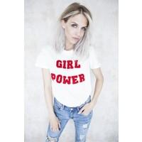 GIRL POWER WHITE/RED - T-SHIRT