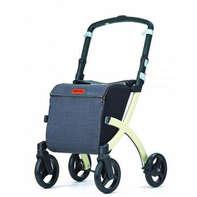 Rollz Rollz Flex Shopper rollator met grijze tas