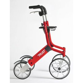 TrustCare Let's go out rollator - Rood/zilver