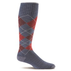 Sockwell Argyle Denim - Heren - Blauw