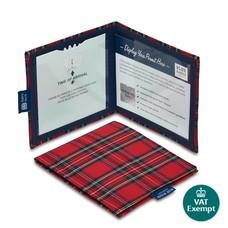 Blue Badge Company Mapje gehandicapten parkeerkaart - Schotse ruit