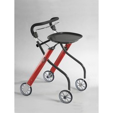 TrustCare Let's go indoor rollator - Rood/antraciet