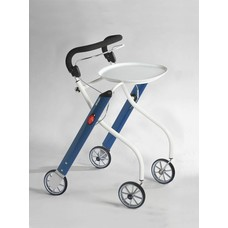 TrustCare Let's go indoor rollator - Blauw/wit