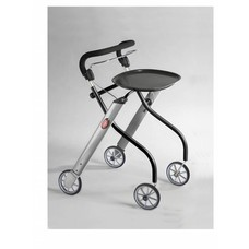 TrustCare Let's go indoor rollator - Zwart/aluminium