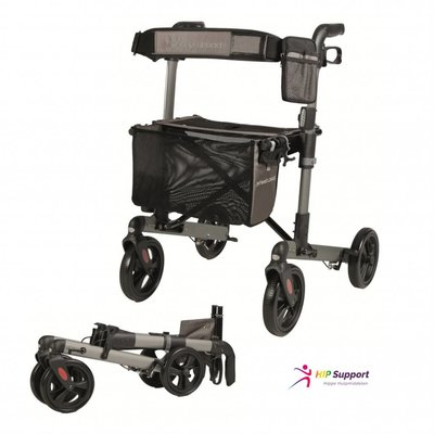 Wheelz Ahead TRACK dubbel opvouwbare rollator- Antraciet
