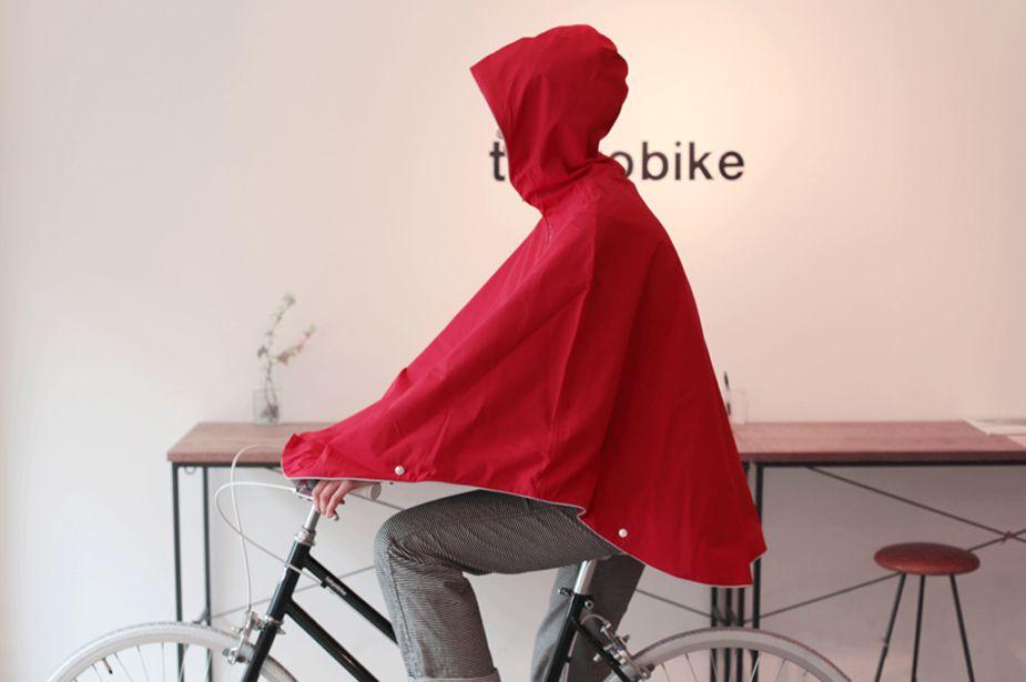 Otto London - Urban Poncho, Bright Red