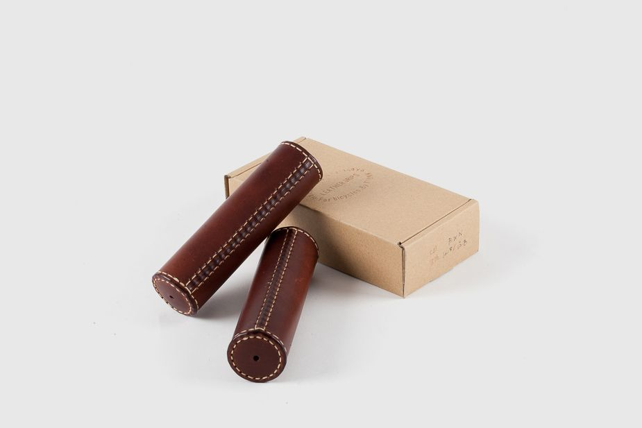 Trunk - Leather grips in Honey 125mm
