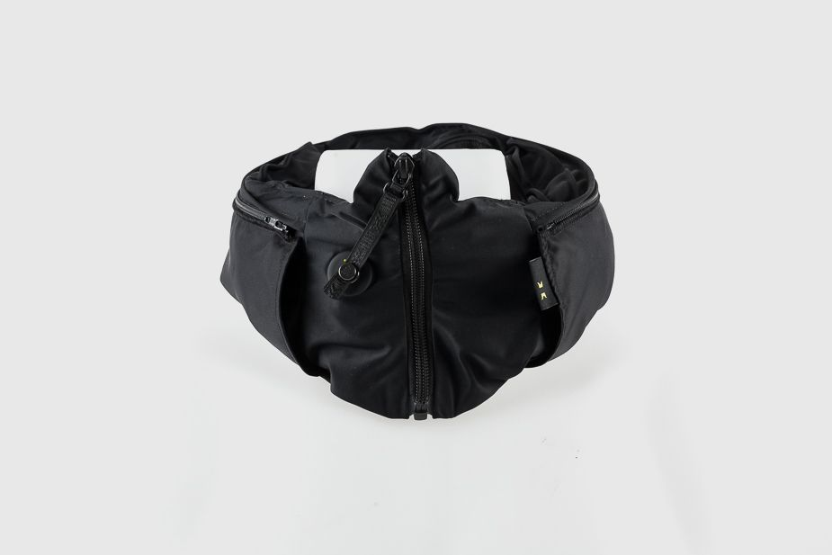 Hovding - Invisible bike helmet v2.0 with Dark Angel shell, Black