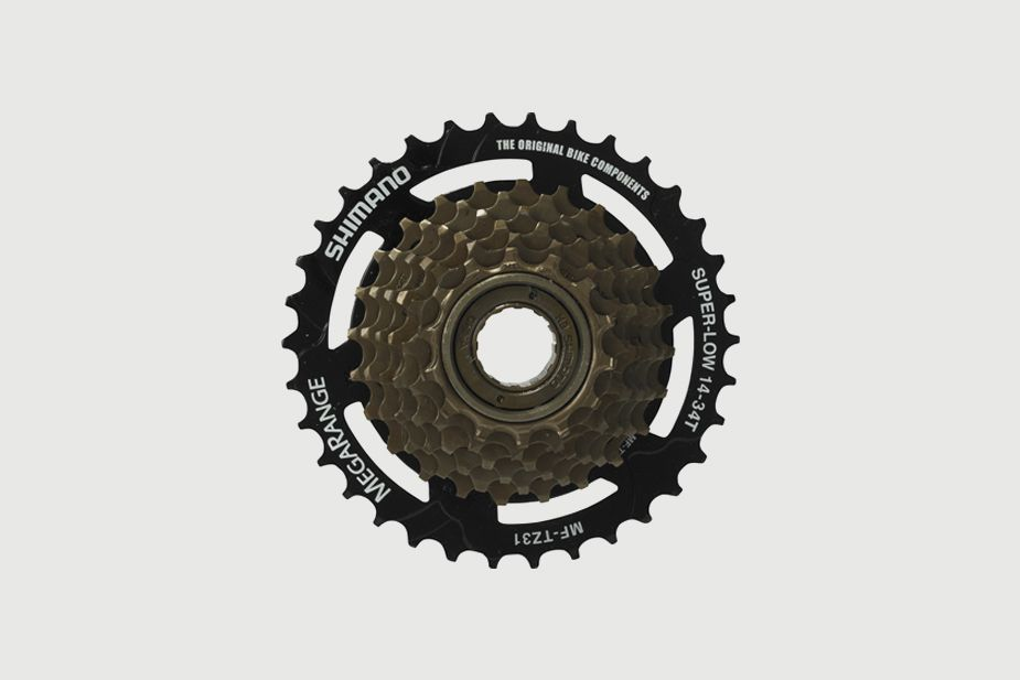 SHIMANO - Freewheel (multiple), MF-TZ31  7-SPEED, SHIMANO (14 - 34T) (for Bisou)
