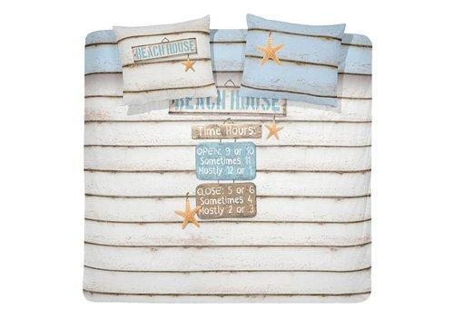 Cinderella Dekbedovertrek Beach House - Wit (240cm x 200-220cm)
