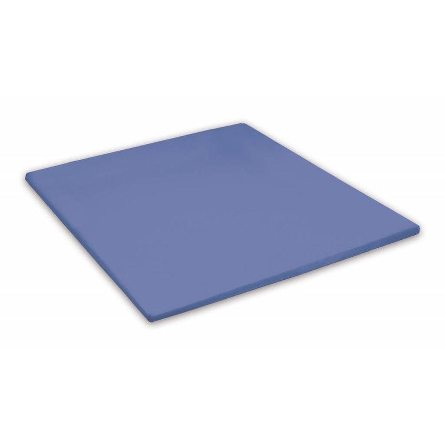 Topper Hoeslaken Percal Katoen - Jeansblauw (576)
