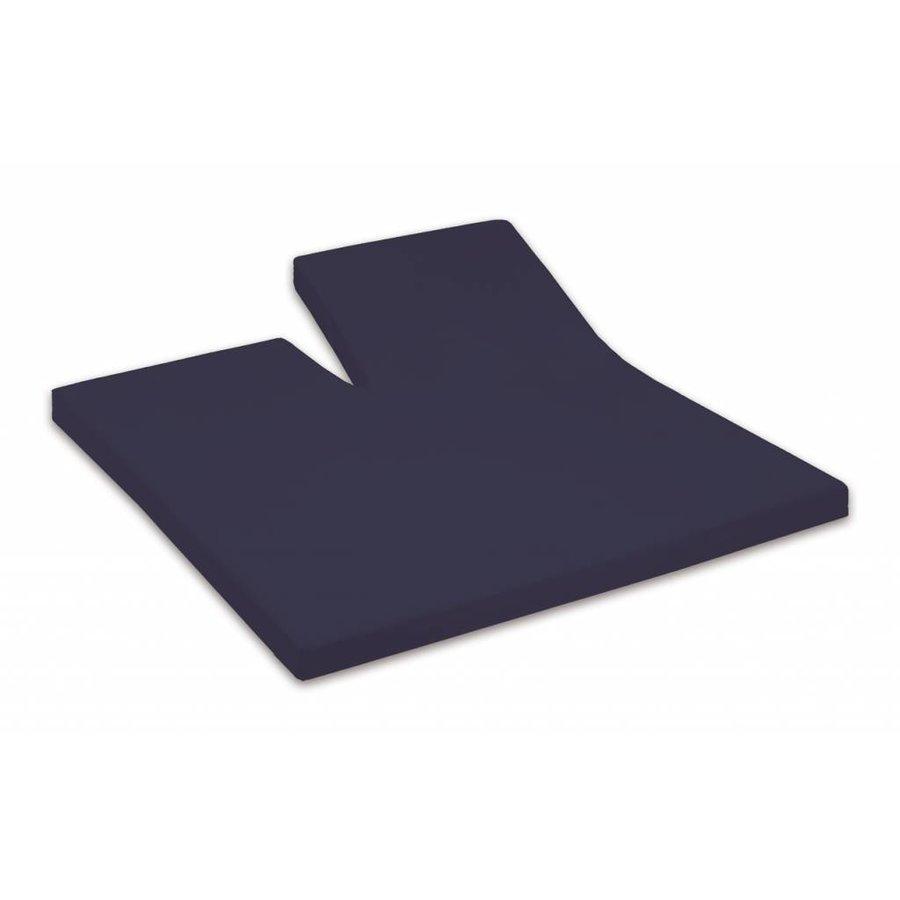 Split-Topper Hoeslaken Percal Katoen - Marineblauw (524)