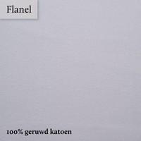 Hoeslaken Flanel - Muisgrijs - Extra Hoge Hoek