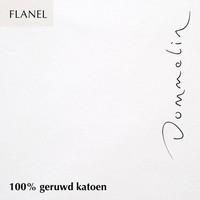 Hoeslaken Flanel - Wit - Extra Hoge Hoek