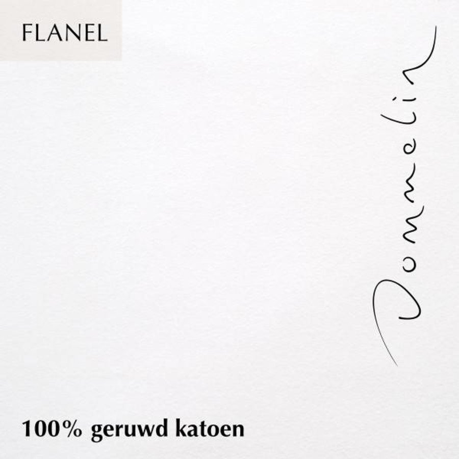 Hoeslaken Flanel - Wit