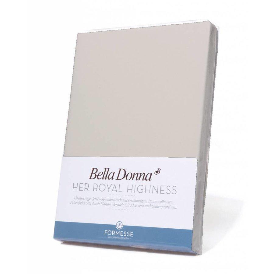 Bella Donna Jersey Hoeslaken - Zilver (0520)
