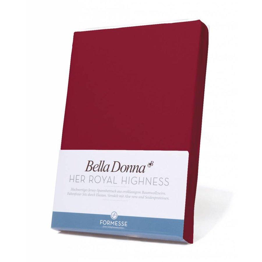 Bella Donna Jersey Hoeslaken - Karmijnrood (0188)