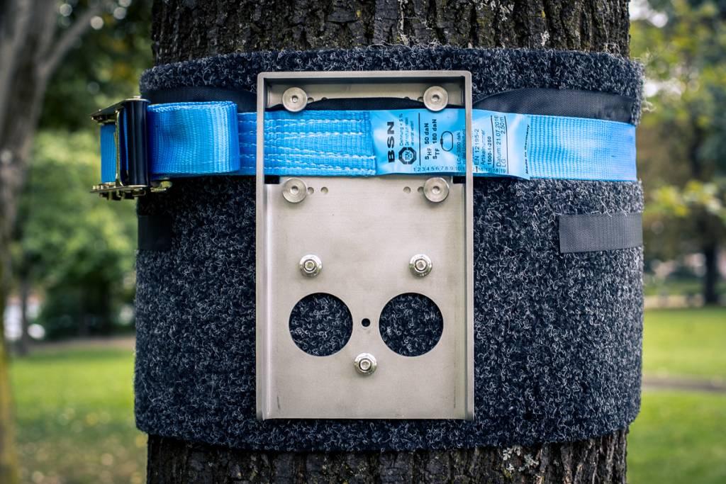 Outdoor Befestigungspaket als Erweiterung für die outdoor Montage an Baum/Pfosten