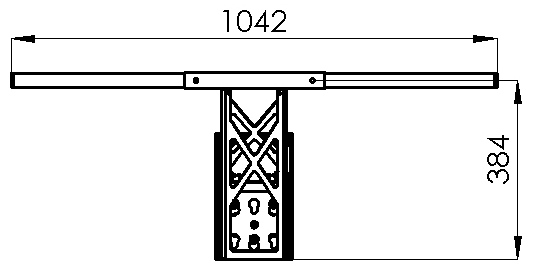 straight pull up bar dimensions