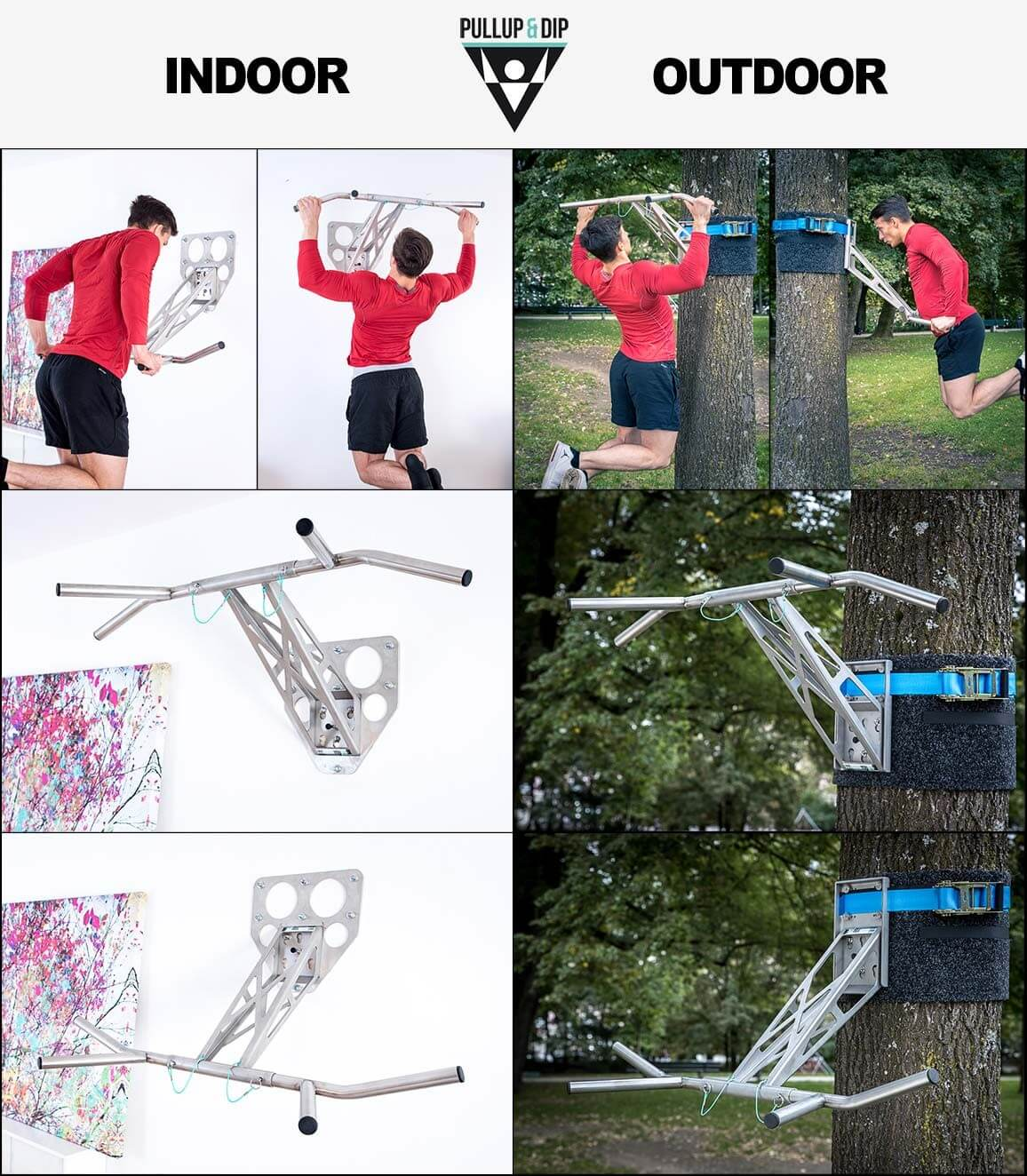 Stainless steel Pull Up bar indoor outdoor