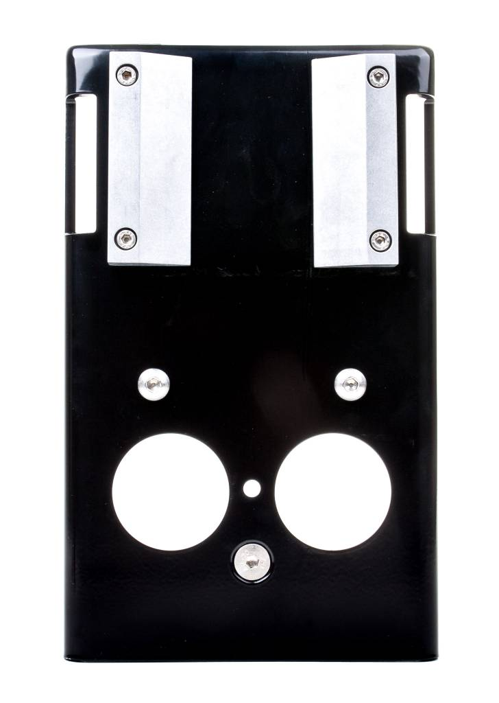 Outdoor chin-up bar/pull-up bar adapter for the installation in the outdoor area, powder coated steel, black