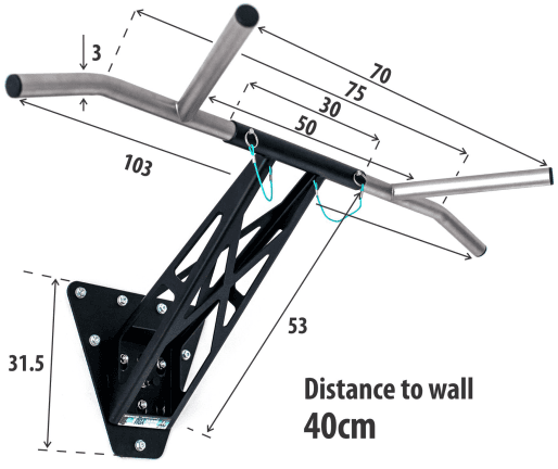 home pull up bar dimensions