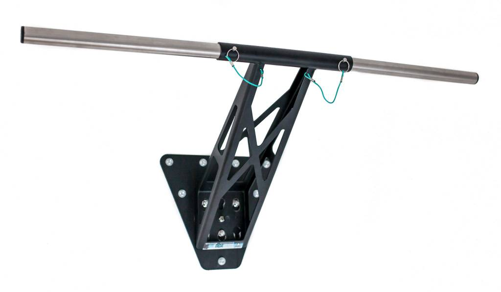 Straight bar set made of stainless steel for pull-ups, muscle-ups and other exercises. Pullup & Dip bar extension.