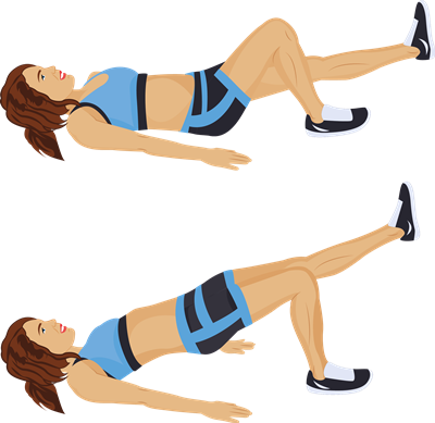 Image result for One Leg Glute Bridge