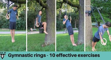 Gymnastic rings - 10 very effective exercises