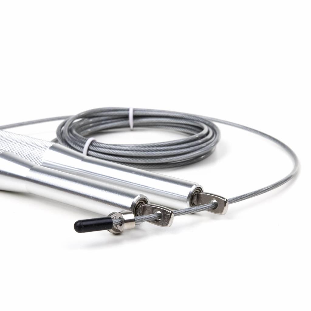 Corde à sauter avec poignée en aluminium pour échauffement et entraînement de boxe