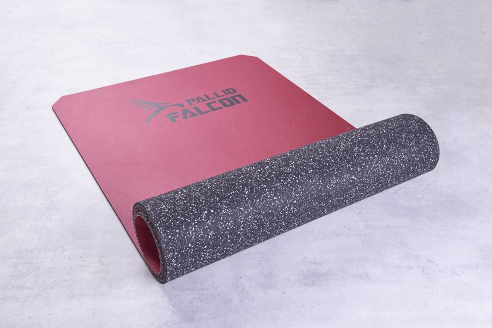 Pallid Falcon FalconONE fitness mat, composite foam and synthetic leather, abrasion resistant, washable and non-slip, Made in Germany
