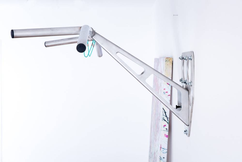 Pullup & Dip  wall package - stainless steel wall mounted pull-up and dip bar, wall mount on inside and outside walls, over 15 exercises, premium quality