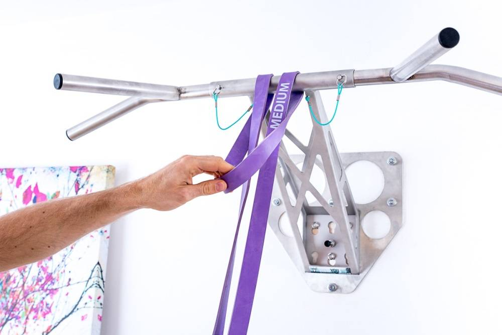 Pullup & Dip INDOOR PAKET - Edelstahl Klimmzugstange/Dip Stange für zuhause, Wandmontage an Innen- und Außenwand,  über 15 Übungen, Premium Qualität