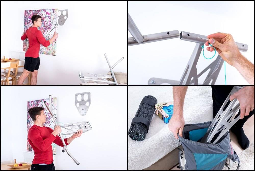 Pullup & Dip INDOOR & OUTDOOR Paket - Profi Klimmzugstange und Dip-Stange für zu Hause und outdoor, über 35 Übungen, hochwertige Edelstahl Qualität