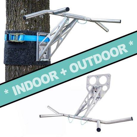 Pullup & Dip - Kit pour intérieur et extérieur (acier inoxydable)