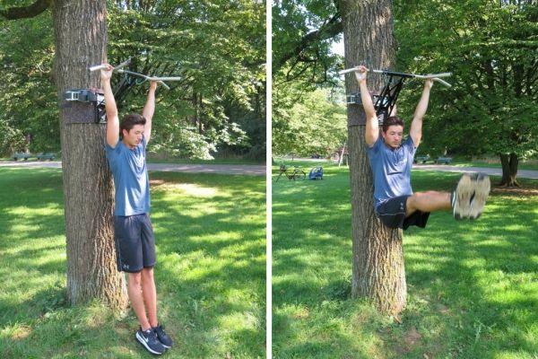 pull-up bar muscles leg raise