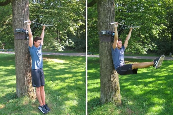 pullup bar exercises L-hang