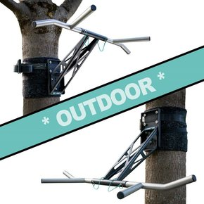 Pullup & Dip - Paquete para exteriores (acero inoxidable + acero (negro))