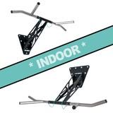 Pullup & Dip - Kit pour intérieur - Barre de traction murale/ barre de dip à fixation murale pour intérieur et extérieur, plus de 15 exercices, qualité premium, acier revêtu en peinture poudrée noire + acier inoxydable