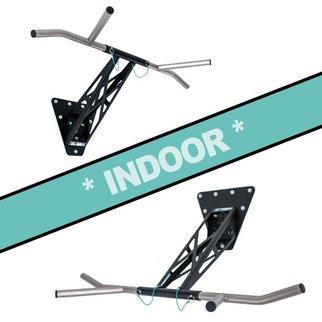 Pullup & Dip - INDOOR package (stainless steel + steel, black)