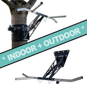 Pullup & Dip - INDOOR & OUTDOOR package (stainless steel + steel, black)