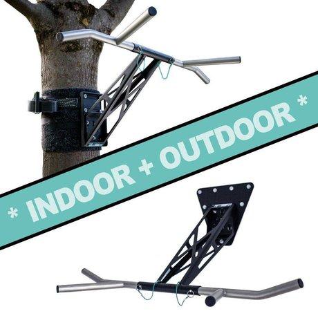Pullup & Dip - Kit pour intérieur et extérieur (acier inoxydable + acier noir)