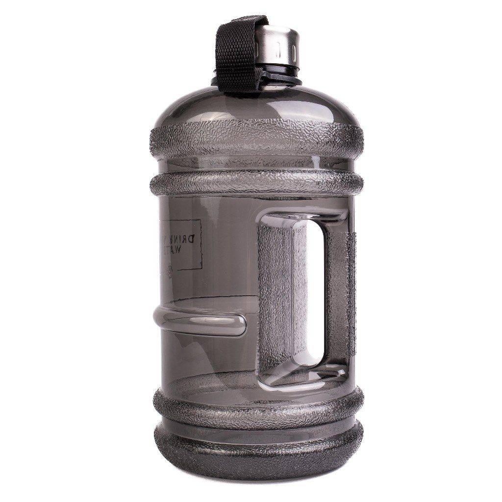 """Water bottle """"Drink Your Water"""" by Browney, Trinkflasche 2.2 Liter,  BPA & DEHP frei, schwarz"""