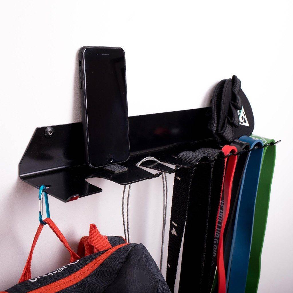 Soporte para accesorios Fitness – como bandas elásticas de resistencia, anillas de gimnasia, combas para saltar o entrenador de suspensión